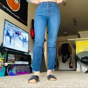 Dark Blue Cutoff Skinny Jeans